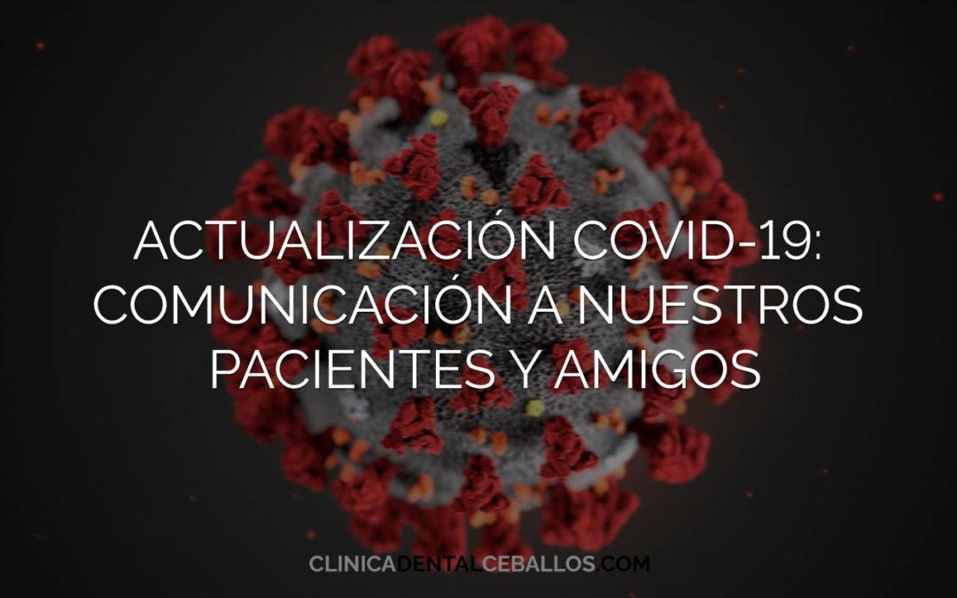 Protegido: Actualización COVID-19: Comunicación a nuestros pacientes y amigos